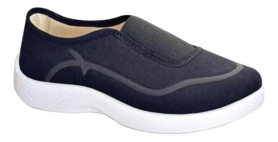 Zapatillas Panchas Mujer Gowell Elastico Comodas Taco