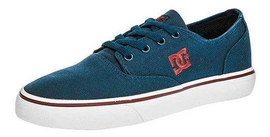 Tenis Deporte Dc Shoes Textil Azul Caballero Flash 29647ipk