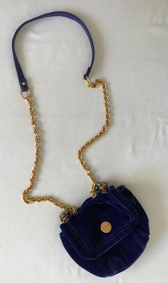 Juicy Couture. Divina Mini Cartera Azul (con Detalle)