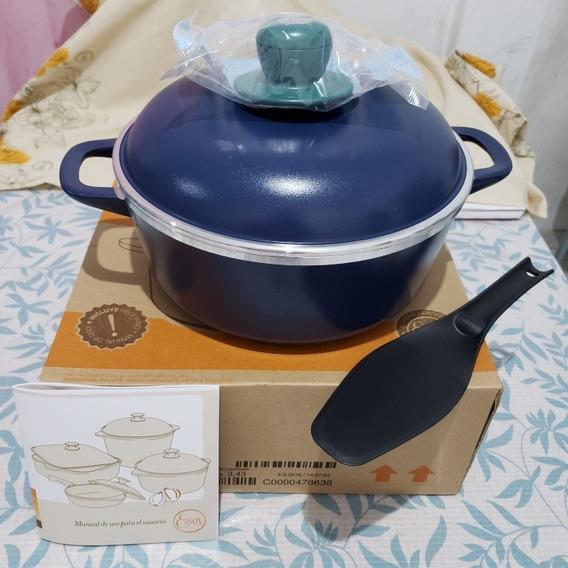 Cacerola Essen Linea Azul 22cm Con Antiadherente