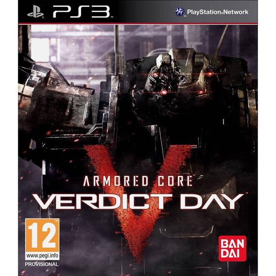 Armored Core Verdict Day Lacrado! Loja Física! 12x S Juros!