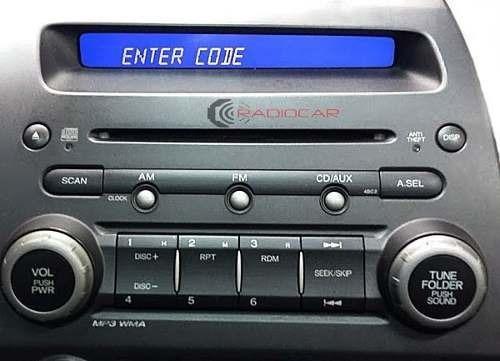 Código De Desbloqueio Radio Honda Civic, Crv, Hr-v