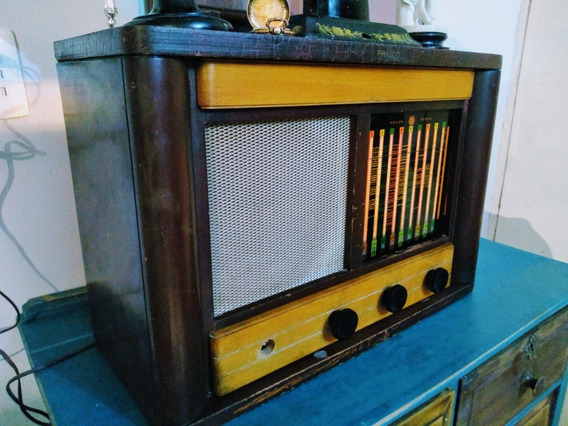 Radio Antiguo De Bulbos Philco De Coleccion