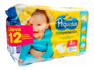 Pañales Pequeñín Extraprotección Etapa 3 X 30 Uds + Toallita