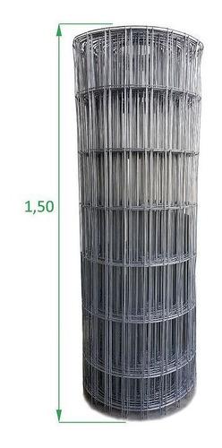 Tela Galvanizada Soldada - 1,50 X 25 M Fio 2,3 Mm