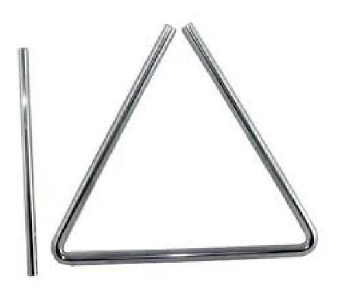 Imagen 1 de 1 de Triangulo 3 Tonos 16cm Con Golpeador  Aluminio