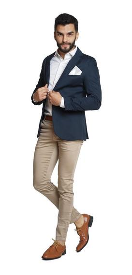 Pantalones Chupines Hombre Vestir Gabardina Elastizados