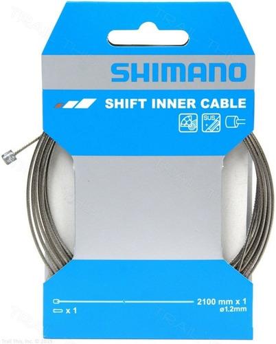 Imagen 1 de 4 de Cable De Cambio Bicicleta Shimano Mtb Ruta 2100x1, 2 Blister