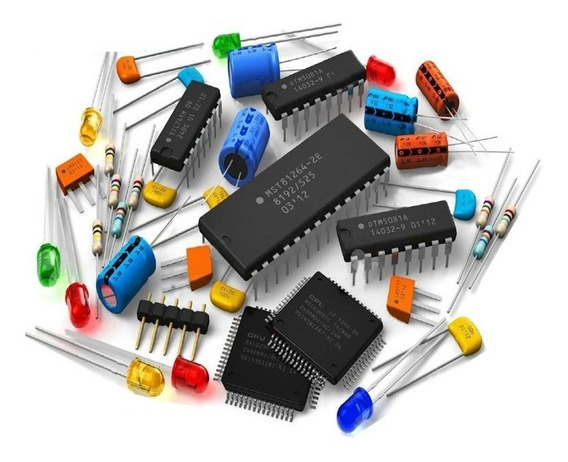 Lote De Componentes Eletronicos ( Ci, Chave , Diodo )