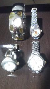 Kit Com 4 Relógios De Pulso Feminino E Infantil