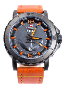 Relógio Naviforce 9112 Ancora Laranja Promoção