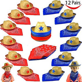 Paquete De 12 Sombreros De Paja Childs Straw