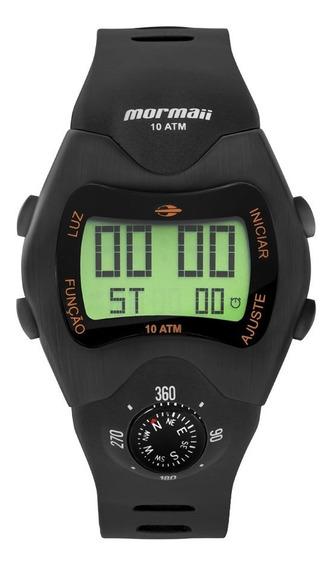 Relógio Mormaii Masculino Mo1324ac/2p Digital Bússola Retro