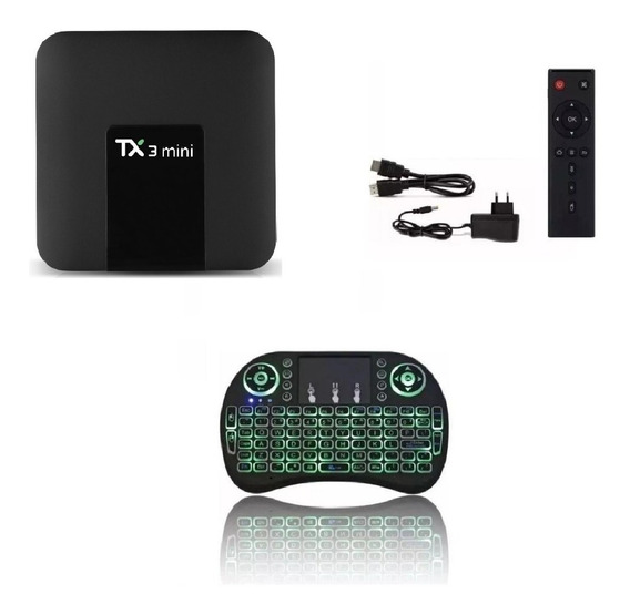 Tx3 Mini Tv Box-android Smarttv+bluetooth+controle Android