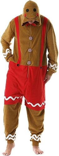 Disfraz Pijama De Galleta De Gengibre Navidad Para Adultos 1 Mercado Libre