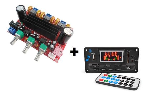 Placa Amplificador 2.1 200w Compacto + Bluetooth 4.2 Premium