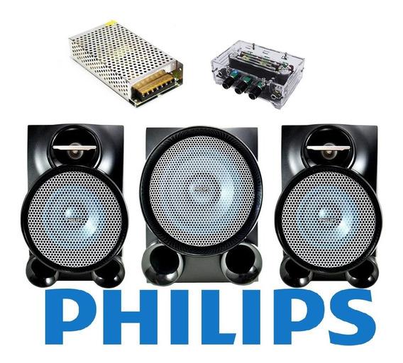 Caixas Som Original Philips Fwm653+ Amplificador Digital 2.1