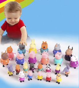 25 Pçs Miniaturas Peppa Pig E Turma / Família / Amigos