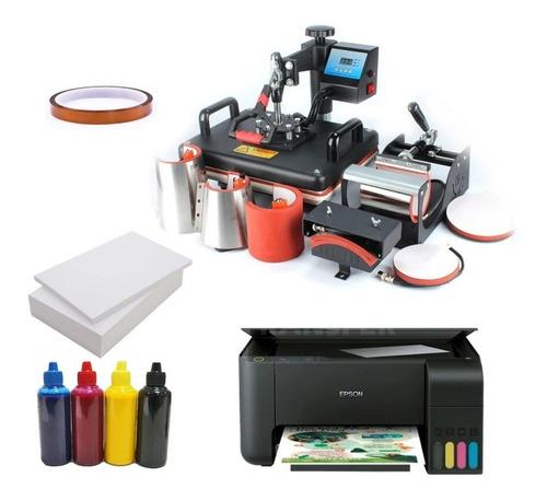 Termofijadora 8 En 1+impresora Epson L1110 + Cinta Y Papel