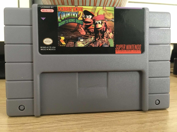 Donkey Kong Country 2 Diddy Kong Quest Salvando Jogo Snes