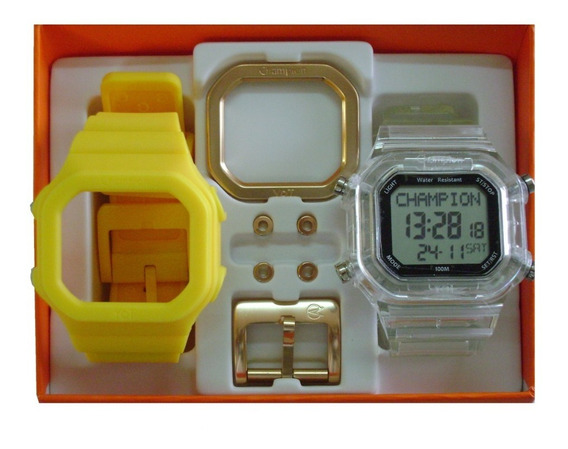 Relógio Champion Yot Original Cp40180x Nf Ooriginal Raro