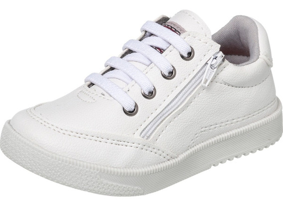 Tênis Colegial Infantil Branco Redmax 5602-001