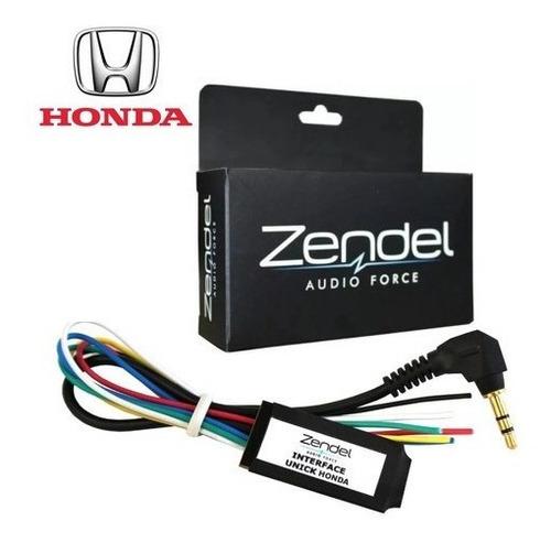 Interface Controle De Som Volante Zendel Honda Unick Ho