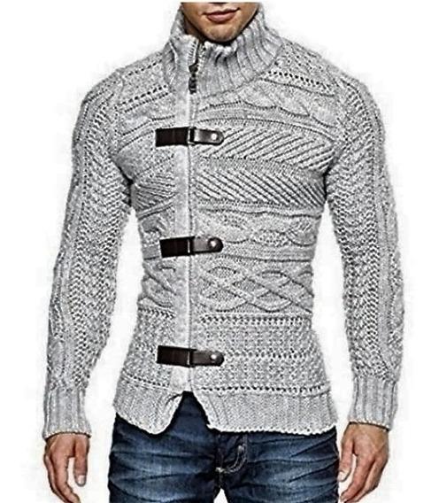 Cardigan Imperador Masculino Trench Coat E Couro Ref: 837