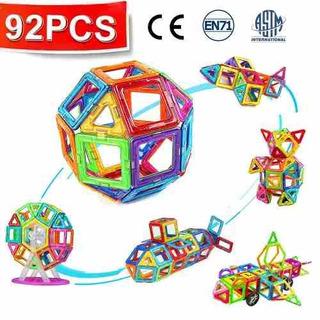 Juego De Construcción Crenova Magnetic Blocks 92pcs Inclu!
