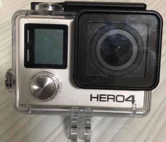 Camera Gopro Silver 4 Usada Somente EmUma Viagem