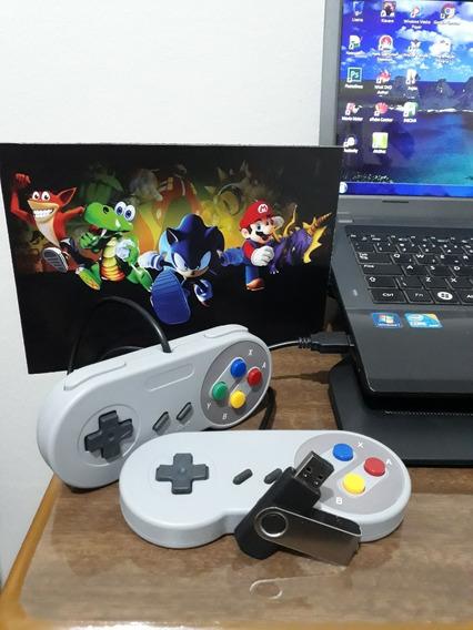 Super Nintendo, Pendrive Vários Jogos, 2 Controles + Brinde!