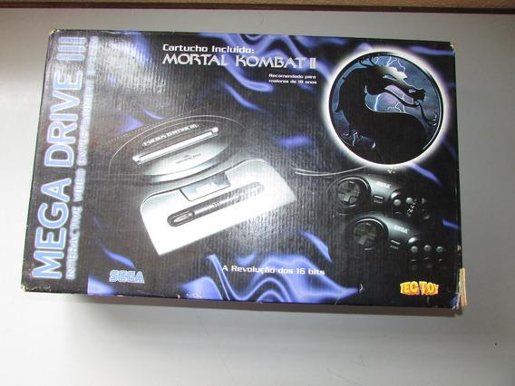 Caixa Vazia Mega Drive 3 Edição Mortal Kombat 2