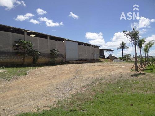 Galpão Com Área Externa Para Alugar, 1000 M² Por R$ 12.000/ano - Balneário Das Garças - Rio Das Ostras/rj - Te0043
