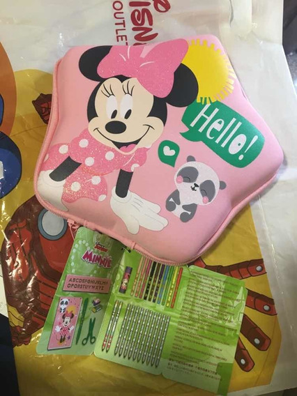 Cartuchera Minnie Mouse Con Útiles Escolares, Original Disne