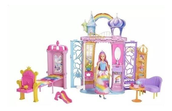 Barbie Casa Castelo De Arco Íris Dream Topia - Cod Frb15