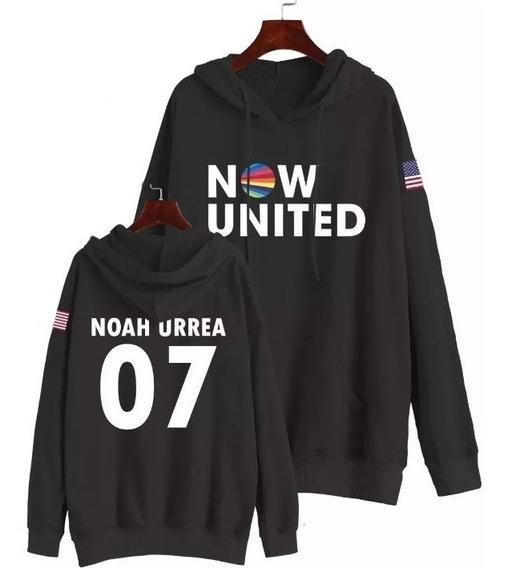 Moletom Now United Noah Urrea 07 Usa Bandeira Estados Unidos