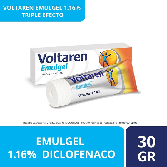 Gel Emulgel Triple Efecto 30g Diclofenaco 1.16% Voltaren