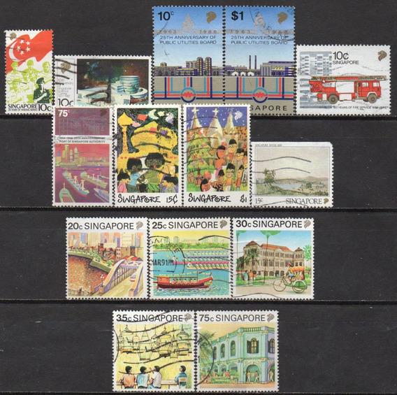 Cingapura - 1987-90 - Lote 14 Selos Diversos