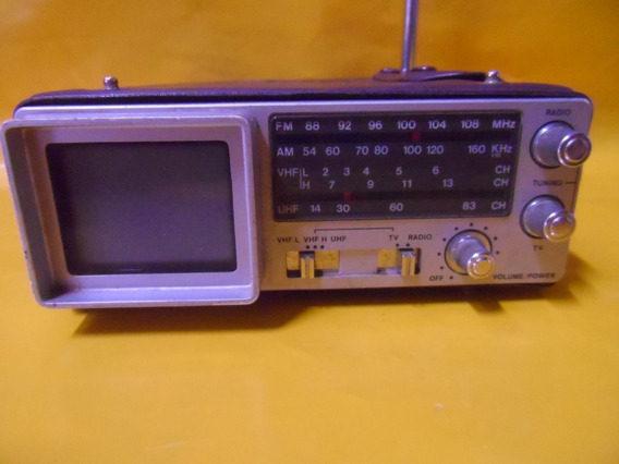Mini Tv C/ Radio Fm-am-vhf-uhf Emerson C/ Capa - Preto/bco