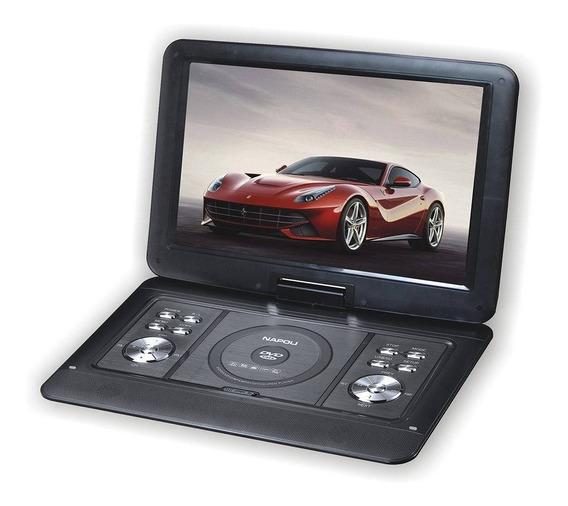 Dvd Portatil Tv 15 Pol Digital 12 V Caminhões Carro Trailer