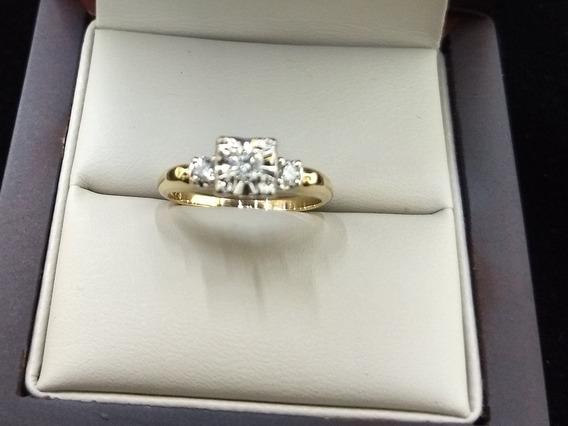 Anillo De Oro 14k Hechura Especial Con Diamantes