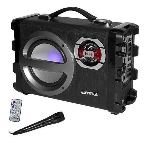 Caixa De Som Amp. Satellite As382-blt/karaoke/bivolt - Preta