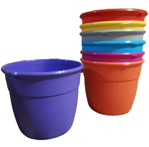 Macetas Reforzadas 40 Cm Plastico Simil Varios Colores