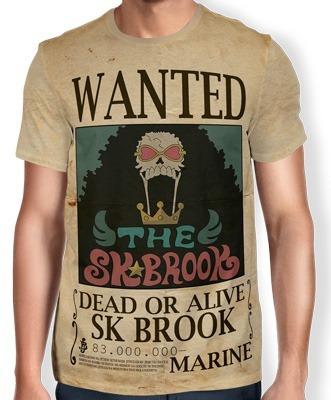 Camisas Camisetas De Animes One Piece Wanted Brook Modelo 2