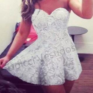 2ca1514e7075 Vestido Renda Bojo Rodado - Vestidos Femeninos Curto em Paraná com o ...