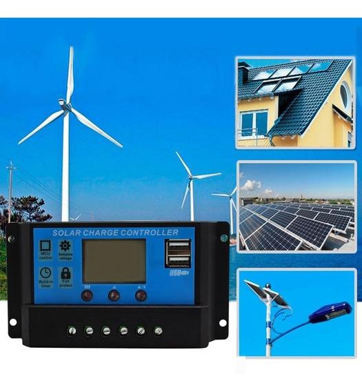 Controlador Carga 30a Solar Eólico 12v 24v Envio Imediato