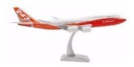 Miniatura De Avião Metal Boeing 747 Com Base Acrílico