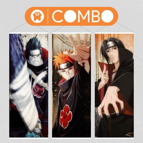 Imagen 1 de 6 de Lonas De Naruto Kisame Pain Itachi Akatsuki  - Animeras