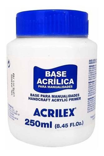 Imagem 1 de 1 de Base Acrílica 250ml Atóxica Acrilex Para Artesanato - 4 Unid