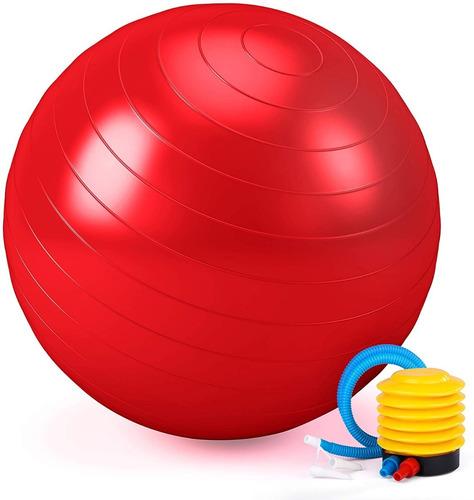Pelota Balón Yoga Pilates 75 Cm Fitnes Terapia Con Inflador
